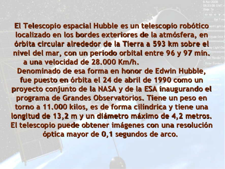 http://www.slideshare.net/tutorasquinto/el-telescopio-espacial-hubble